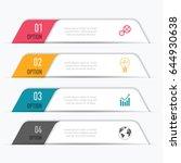 vector abstract 3d digital... | Shutterstock .eps vector #644930638
