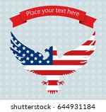 abstract image of the american... | Shutterstock .eps vector #644931184