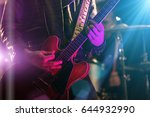 a man is playing guitar on... | Shutterstock . vector #644932990