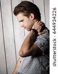 elegant young handsome man.... | Shutterstock . vector #644934226