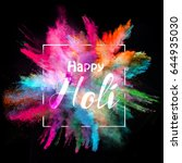 colored powder explosion on... | Shutterstock . vector #644935030
