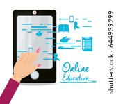 smartphone with knowledge to... | Shutterstock .eps vector #644939299