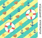 summer sea background | Shutterstock .eps vector #644939314