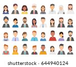 collage of diverse multi ethnic ... | Shutterstock .eps vector #644940124