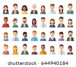 group of working people... | Shutterstock .eps vector #644940184