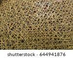 abstract bamboo texture... | Shutterstock . vector #644941876