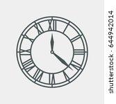 vintage clock vector | Shutterstock .eps vector #644942014