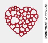 lacy heart vector | Shutterstock .eps vector #644942020