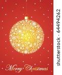 red christmas postcard | Shutterstock . vector #64494262