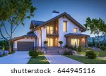 3d rendering of modern cozy... | Shutterstock . vector #644945116