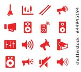 loud icons set. set of 16 loud... | Shutterstock .eps vector #644945194