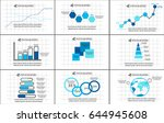 a collection of infographics on ... | Shutterstock .eps vector #644945608
