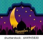 ramadan kareem greeting card | Shutterstock .eps vector #644945830