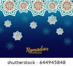 ramadan kareem greeting card | Shutterstock .eps vector #644945848