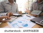 business people making... | Shutterstock . vector #644946808