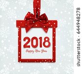happy new year 2018 design ... | Shutterstock .eps vector #644948278
