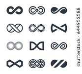 infinity vector symbols and... | Shutterstock .eps vector #644953588