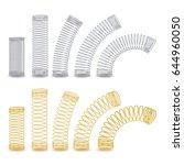 metal spring vector. spiral... | Shutterstock .eps vector #644960050