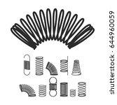 metal spiral flexible wire... | Shutterstock .eps vector #644960059