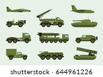 set of different military... | Shutterstock .eps vector #644961226