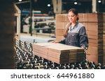 paper mill factory worker | Shutterstock . vector #644961880