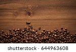 Black Coffee Grains Lie On A...