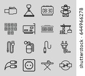 cable icons set. set of 16... | Shutterstock .eps vector #644966278