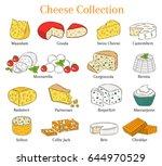 vector colored sketch... | Shutterstock .eps vector #644970529
