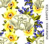 abstract elegance seamless... | Shutterstock .eps vector #644971216