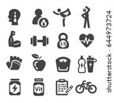 workout  exercise icons | Shutterstock .eps vector #644973724