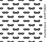 seamless pattern with mask.... | Shutterstock .eps vector #644974804