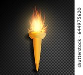 torch with flame. realistic...