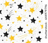 doodle star seamless pattern... | Shutterstock .eps vector #644979796