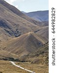 lindis pass new zealand valley...   Shutterstock . vector #644982829