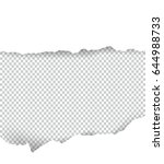 ripped paper transparent with... | Shutterstock .eps vector #644988733