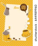 vector menu for coffee house... | Shutterstock .eps vector #644989960