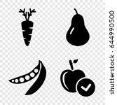 Diet Icons Set. Set Of 4 Diet...