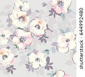 soft pastel like watercolor... | Shutterstock .eps vector #644992480