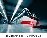 Motion Blurred Rapid Train On...