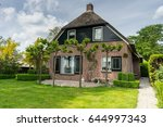 traditional dutch house in... | Shutterstock . vector #644997343