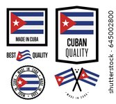 cuba quality isolated label set ... | Shutterstock .eps vector #645002800