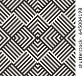 stylish lines maze lattice.... | Shutterstock .eps vector #645004198