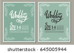 a set of graphic elements for... | Shutterstock .eps vector #645005944