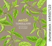 nettle vector frame | Shutterstock .eps vector #645007123