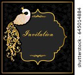 vintage invitation and wedding... | Shutterstock .eps vector #645014884
