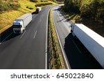 truck transportation  | Shutterstock . vector #645022840