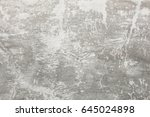 gray plaster texture on the wall | Shutterstock . vector #645024898