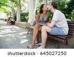 ethnically diverse young... | Shutterstock . vector #645027250