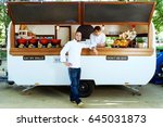 portrait of handsome young chef ...   Shutterstock . vector #645031873