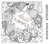 vector coloring book for adult  ... | Shutterstock .eps vector #645032680